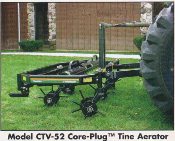 Corecaster Tractor Mounted/Commercial Mower Mounted Coreplug And Spiking Type Aerator