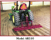 Model AR510 Arena Ripper Three Point Hitch Mount Scarifier