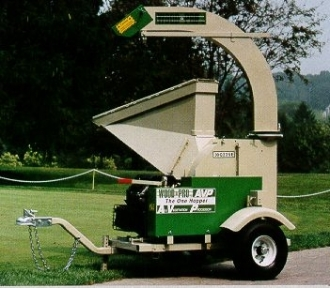 Wood Pro AVP Trailer Mounted, Engine Powered Chipper/Shredder