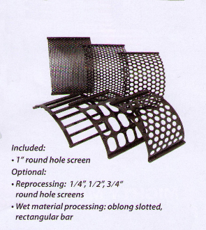 Part No. 500-0004 Shredding Screen With 1 Inch Round Holes