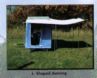 L Shaped Awning For Timeout And Easy Camper