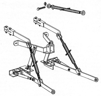 Model HK-203 three point hitch kit, category 1 and 2 implements, fits John Deere Tractor models A, B, G, 50, 60, and 70