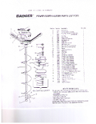 Parts list for Badger Earth Auger Power Head, part no. 1670 is a flat washer