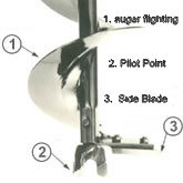 2013 Auger Side Blade For Badger 6 Inch Diameter Auger Bit