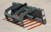 WOM/SG-60S Manure Silage Debris Fork With Upper Grapple 60 Inch