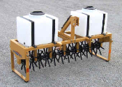 "Model OGWT160 Three Point Hitch Core Plug Aerator With 54"" Aeration With And Water Ballast Tanks"
