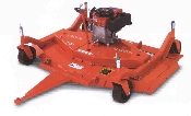 Model C30-CE5 engine powered tow behind mower with 60 inch cutting width, powered by a 11.5 hp Briggs engine, has cutting height from 1 to 4 inches, three blades give you a finish cut.