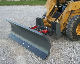 Model WOSBS-27108A heavy duty 9 ft. wide skid steer loader mounted snow plow with hydraulic angle adjustment and 5 degrees of laterial oscillation, and has 27 inch tall moldboard.