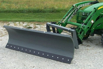 6 Ft  Wide Snow Blade For Loaders On Compact Tractors 25 To