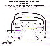 Part No. 360170 hydraulic angle kit to fit WOSBS-2172 and WOSBS-2160 snow plows (recommended you also use 36005 crossover relief valve with this kit).
