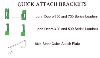 Quick Attach Brackets For John Deere 600 And 700 Series Loaders