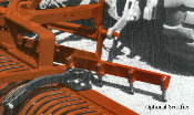 Model 0440 scarifier attachment for RW series landscape rakes, unit is 5 ft. wide and fits all widths of RW rakes.