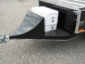 Model CPWL cooler package with running lights. Reduces wind resistance on front of trailer makes trailer easy to tow at highway speeds, and holds and includes a cooler.