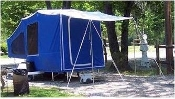 Straight awning accessory for Timeout, Timeout Deluxe, And Easy Camper tent campers.