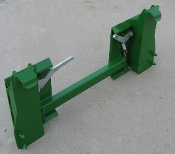 Model 832620 Adapter Plate - interfaces with JD400/500 quick attach loaders to allow connection of universal quick attach skid steer attachments