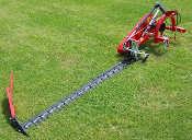 Model ERBF180 Enorossi Sickle Bar Mower with mechanical cutter bar angling/folding, cutter bar is 5 ft. 10 inches long (almost 6 ft.)