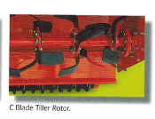 Optional Roto-Tiller style rotor