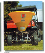 Model 103-230 Tow behind Baby-Hop Spreader with Poly Hopper and stainless steel bottom, 3.5 cubic ft. hopper, 226 lbs.
