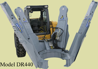 DR440-EC Hydraulic Tree Spade With Wired Remote Control