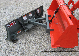 Model WOSBC-2160 Clamp-on Snow Blade, for tractors up to 35 hp, blade is 6 ft. wide