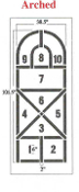 Part No. 10000448 Arched Style Hopscotch Stencil