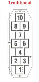 Part No. 10003336 Standard Style Hopscotch Stencil