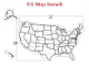 Part No. 10001727 large size U.S. map stencil, 20 pieces, 280 lbs., ships by UPS, dimensions of 32 feet long x 20 ft. high