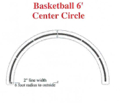 Part No. 10003149 NCAA Basketball 6 Ft. Center Circle Stencil