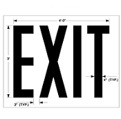 Part No. 10002574 Walmart specification EXIT stencil, 36 inches high x 48 inches wide