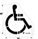 Part No. 10003990 Handicap stencil, new specification Walmart stencil 84 inches high x 78 inches wide with a 6 inch stroke