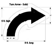 Part No. 10003992 Solid Turn Arrow, Walmart New Specifications 8 ft. x 6 ft.