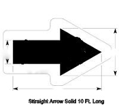 Part No. 10003991 Walmart New Specification solid arrow stencil 10 ft. long