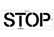 "Part No. 10002634 STOP Stencil 24"" Walgreens Specifications"