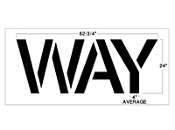 Part No. 10002636 WAY stencil, Walgreens corporation specifications 24 inches