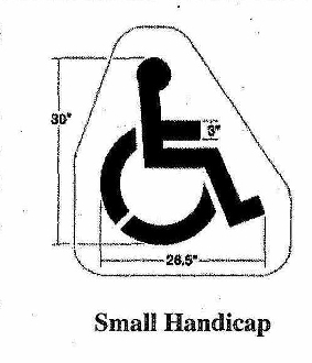 Part No. 10000571 small size (30 inches high x 27 inches wide) handicap stencil.