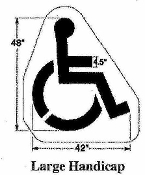 Part No. 10000204 Large size (48 inches high x 42 inches wide) Handicap symbol stencil