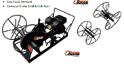 Model BIEC01010000A Gas Powered skid mount wire roller for smooth and barbed wire