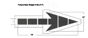 "Part No. 10003120 Straight arrow stencil, 72"" x 24"", Federal Style, 6 Ft. size"