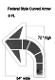 "Part No. 10003459 Curved arrow parking lot stencil 72"" x 54"" Federal Style Arrow"