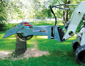 Model WLS28-S650 Skid Steer Mount, Hydraulic Powered Stump Grinder