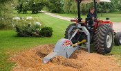 Model WL3P34 tractor mounted, pto powered stump grinder