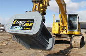 Model WLIMX748-C540 excavator mounted brush mulcher with 48 inch cutting width, 25 to 35 gpm