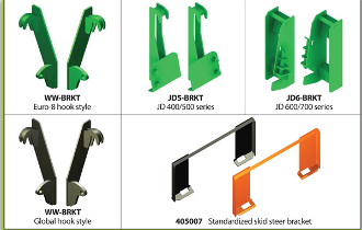 Skid Steer Plate Attachment Model SS1100 is a weld-on skid steer plate that can be used with grapple rakes 333000, and HD444D72, HD444S72, HD444D85, HD444S85.