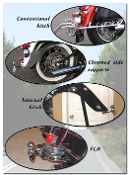 Motorcycle Hitches, Visible and Hidden style
