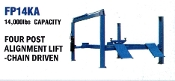 FP14KA Four Post Alignment Lift With 14,000 LB. Capacity