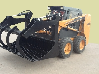 LE33226 Legend Skid Steer Mount Round Bale Grapple 79 Inches