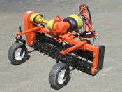 Model YPRC5-008315 five ft. wide power rake, pto powered, with hydraulic angling, category 1 three point hitch