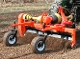 Model YPR6-008116 Power Rake, three point mount, 540 rpm pto powered, hydraulic angling, 6 ft. wide, wt. is 923 lbs.