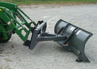 Model WOSBJD-27108A Heavy Duty 9 ft. wide snow blade for mounting on John Deere tractors with a 400 or 500 series loader