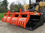 WOSAMB-72 Sweep Action Grapple Skid Mount Solid Bottom